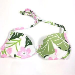 Cia Maritima Bikini Push-up halter top hibiscus